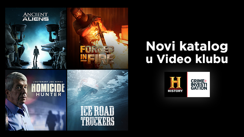 History i Crime & Investigation katalog od sada u Video klubu